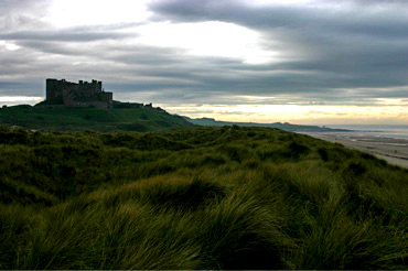Bamburgh Castle and Sand Dunes