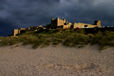 Evening at Bamburgh Castle